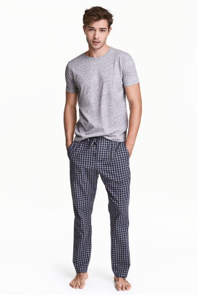 H&M długie spodnie piżamowe krata M