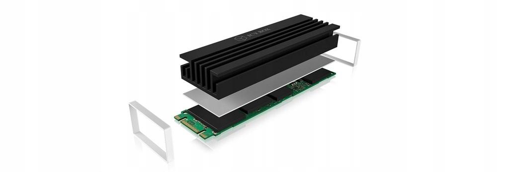 IcyBox Heat sink do M.2 2280 SSD - 7459529410 - oficjalne archiwum Allegro