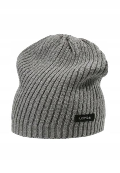 Calvin Klein czapka zimowa DIAGONAL RIB BEANIE