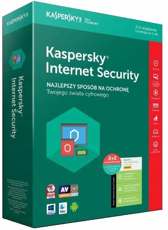 Program Kaspersky Internet Security 2 PC + 2 m,1 r
