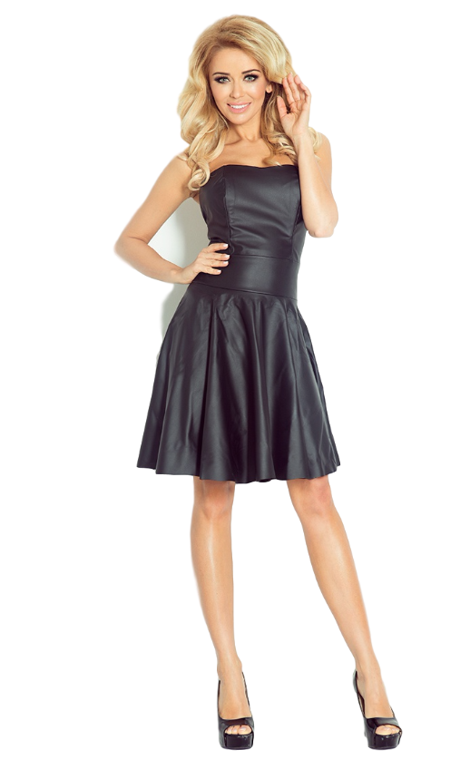 sukienka piękna z gorsetem rozkloszowana skóra L