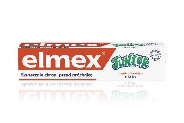 Elmex Pasta do zębów dla dzieci Junior 6-12 lat DU