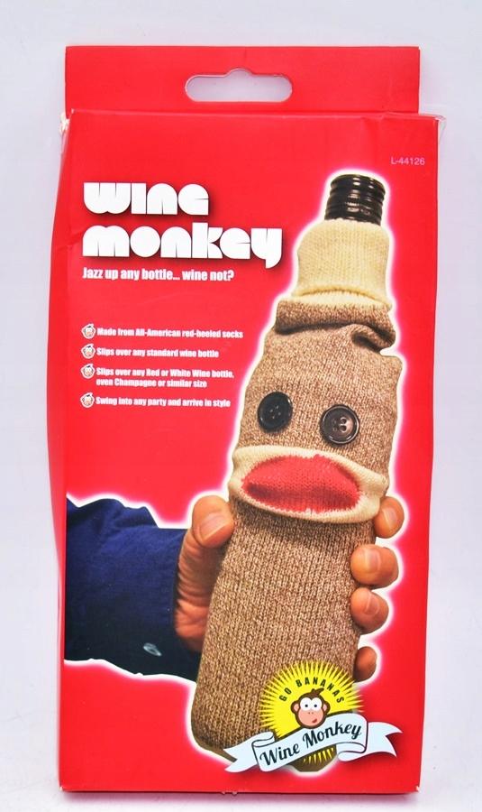 4809-3 ...WINE MONKEY... a#g POKROWIEC NA BUTELKE