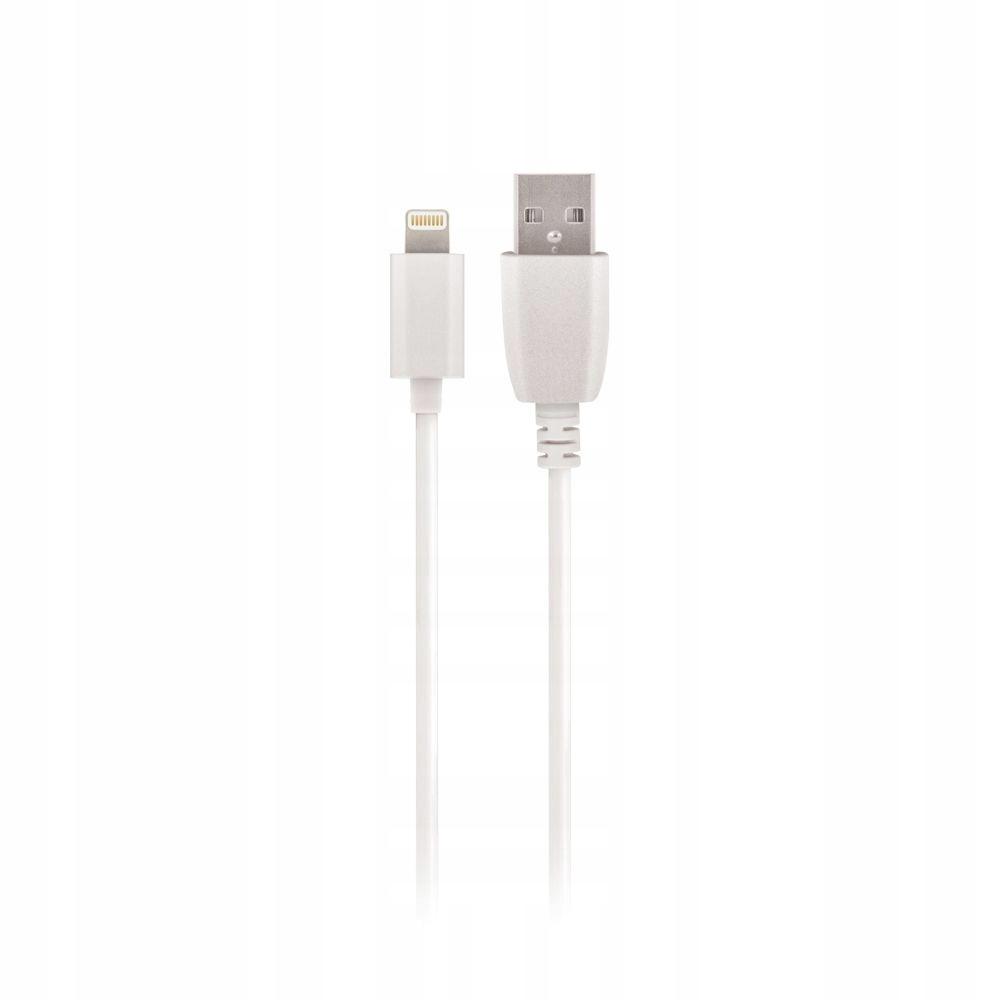 Kabel USB Setty 1m 1A Lightning biały