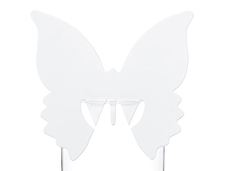 Wizytówka winietka motyl na kieliszek lub patyczek