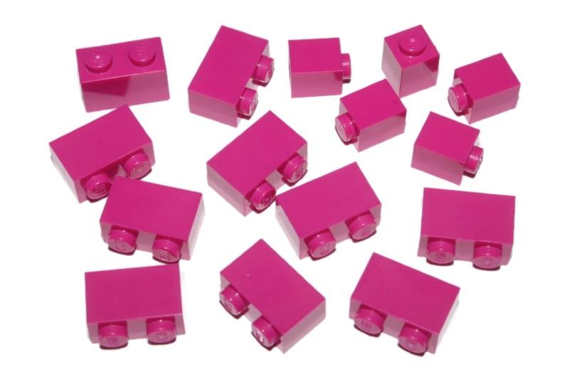 New LEGO Lot of 8 Magenta 1x1 Building Bricks