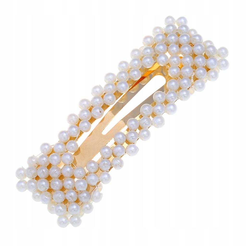 4 kawałki kobiet perły spinka do włosów - Złoty