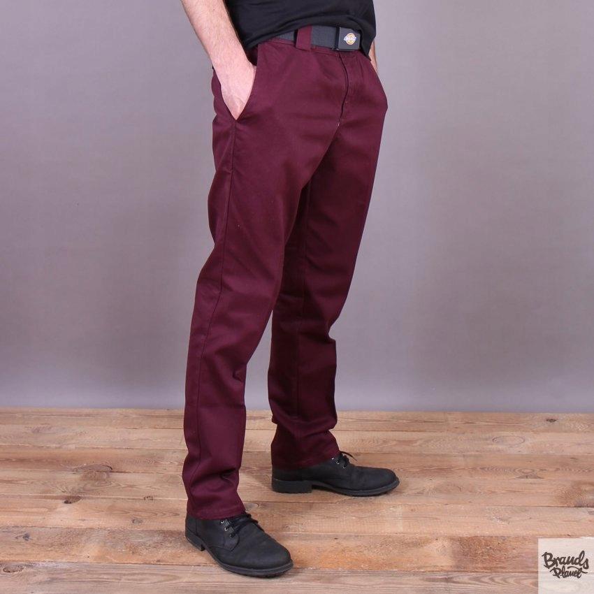 Dickies chinos spodnie meskie 34x32 bordowe