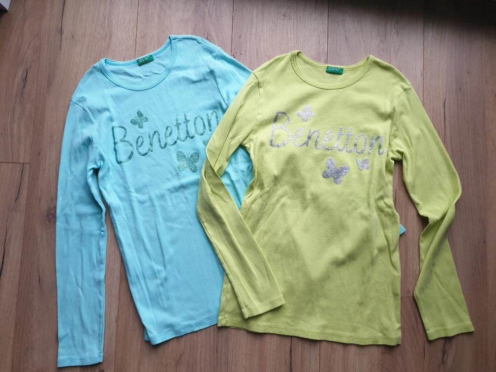 Benetton dwie bluzki XL 150 next to