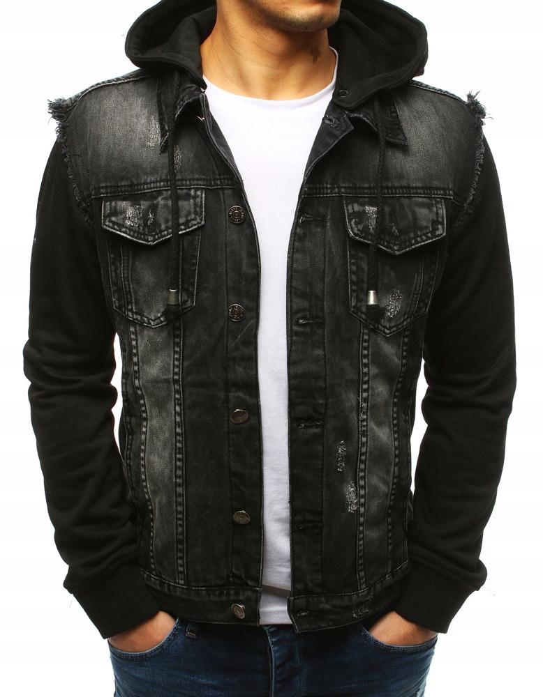 kurtka jeansowa męska do czarnych spodni