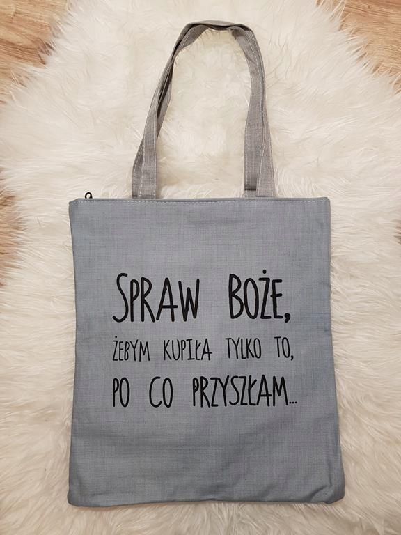 Torba z nadrukiem torebka z napisem napisami suwak