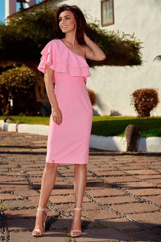Sukienka L254 Powder różowy - Lemoniade
