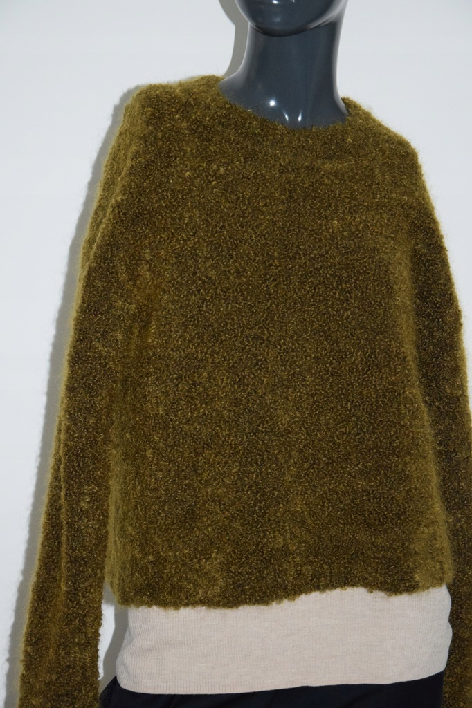 cos zielono brązowy sweter bukla r. M/38