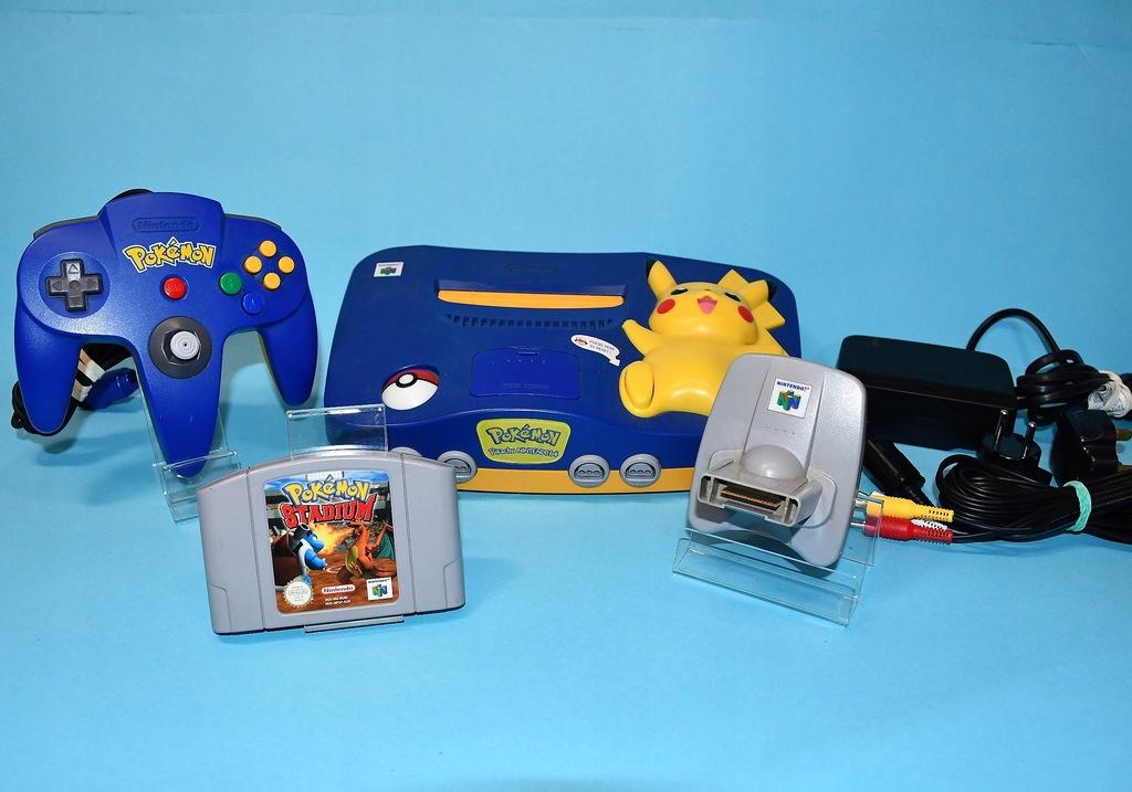 Konsola Nintendo N64 Wersja Pikachu- UNIKAT-Zestaw