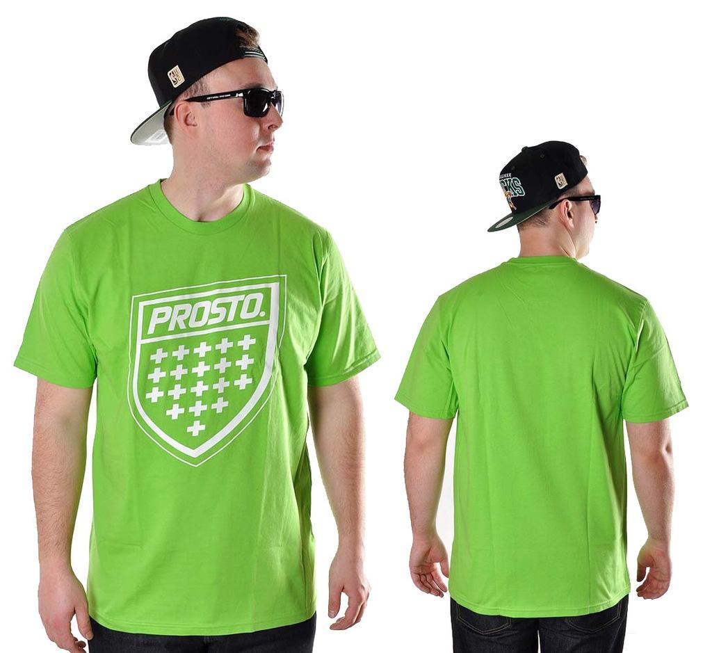Koszulka XL Prosto Klasyk SHIELD XX zielon t-shirt
