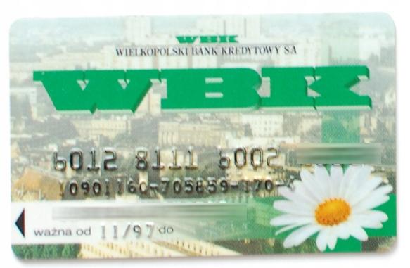 kolekcjonerska karta bankowa