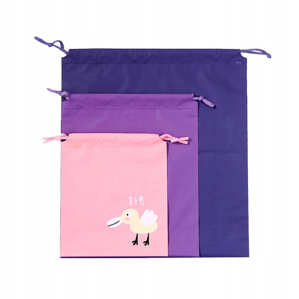 6 SZTUK Stylowa torba worek ze sznurkiem Cartoon t