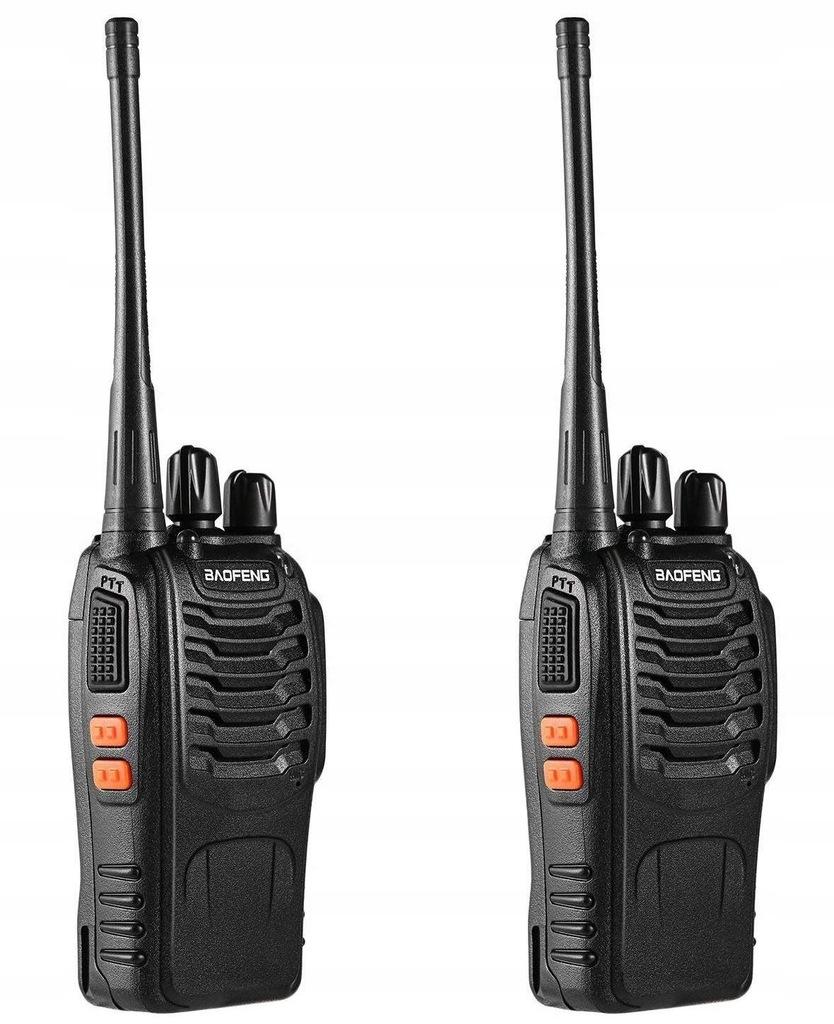 Radiotelefon 2 Krótkofalówki Walkie Talkie Baofeng