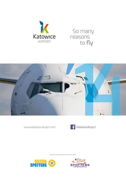 Kalendarz Katowice Airport 2014 duży 600x850mm