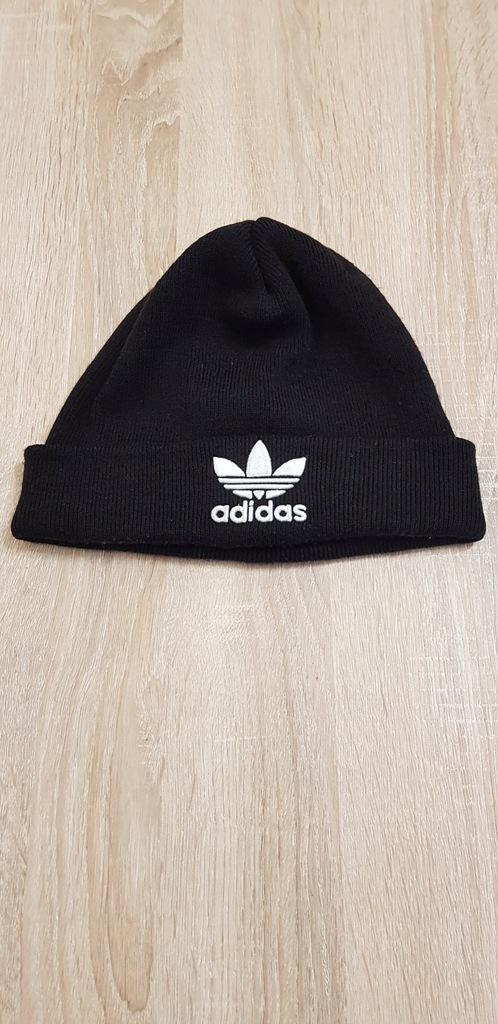 Czapka zimowa czarna Adidas biały znaczek uniseks