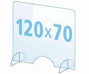 OSŁONA z pleksi ochronna PA szyba 4mm plexi 120x70