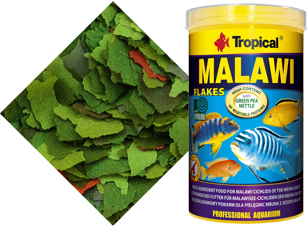 Tropical Malawi Flakes 1000ml/200g. - oryginał