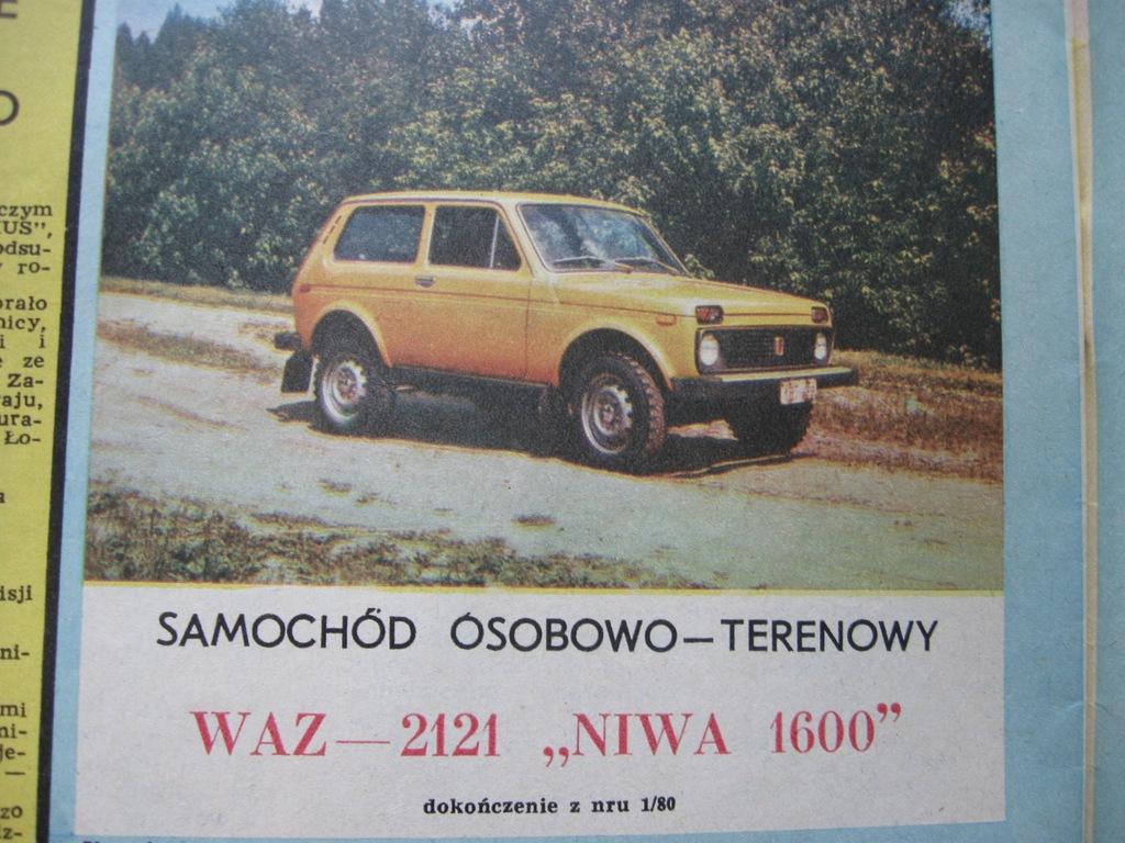 MODELARZ samochód WAZ-2121 Niva 1600 Plan 1980