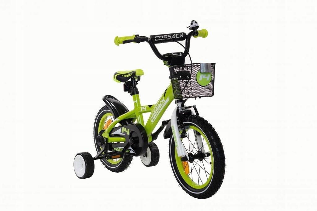 Rower dziecięcy aluminiowy Cossack Blanic - zielon
