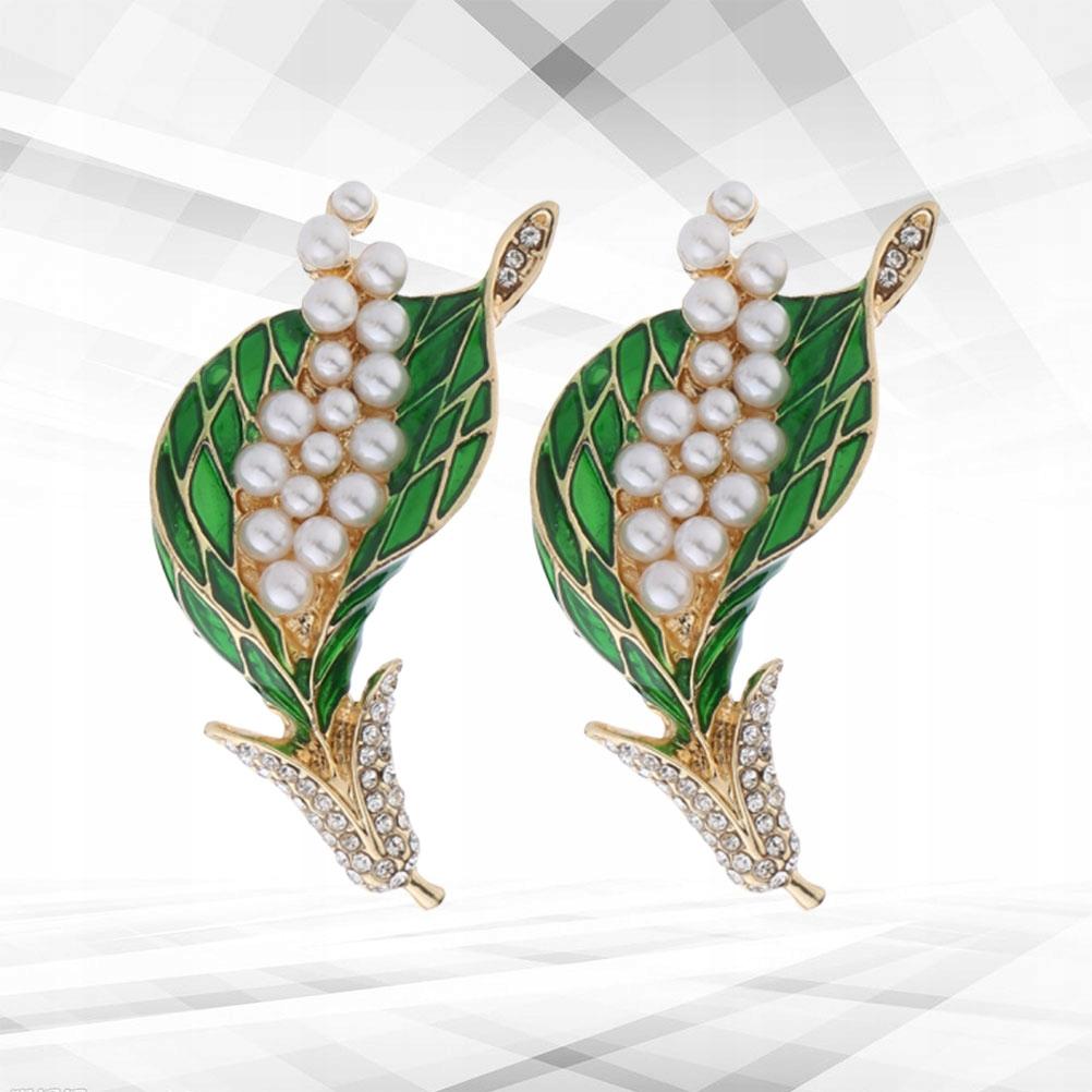 2szt. Eleganckie eleganckie kolczyki w kształcie p