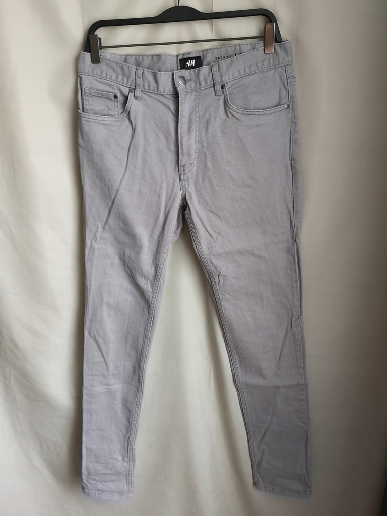 JEANSY SKINNY FIT H&M SZARE 31