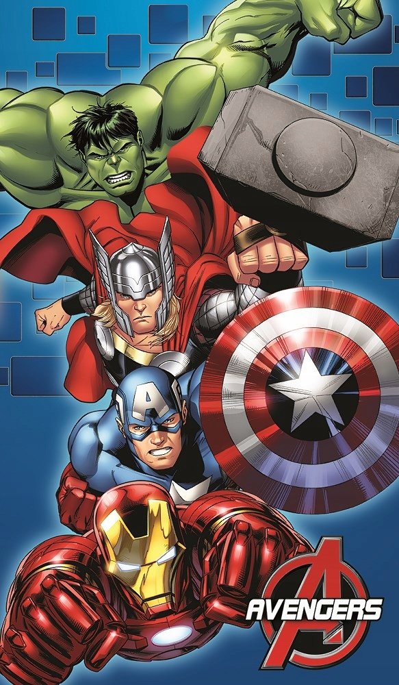 Ręcznik dziecięcy 70x120 Avengers 4128 Kapitan Ame