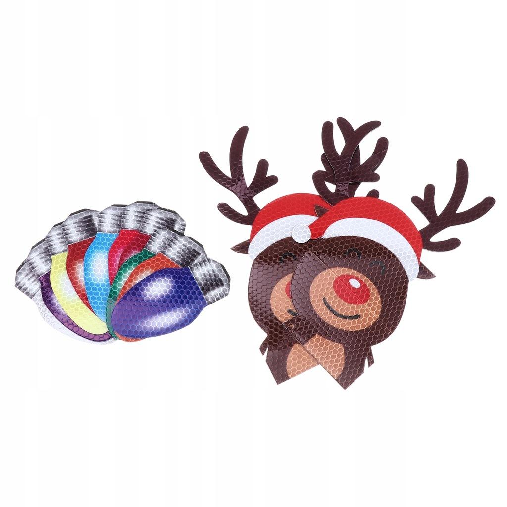 12 sztuk świąteczna kolorowa żarówka zestaw naklej