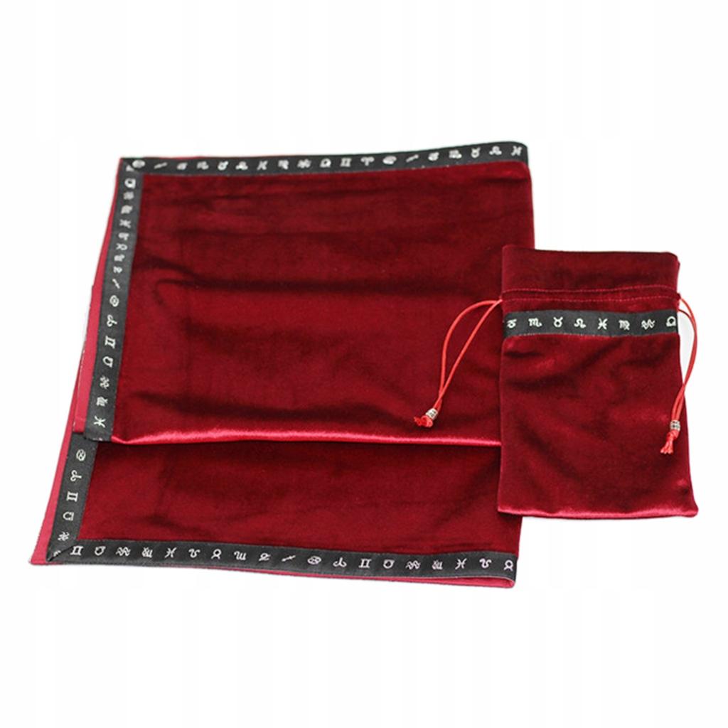 Ołtarz karty tarota etui - Czerwony