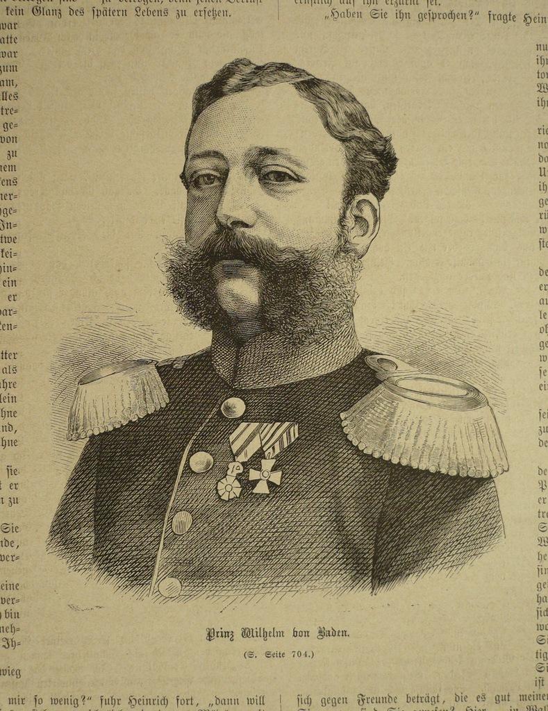 Prinz Wilhelm von Baden, oryg. 1871