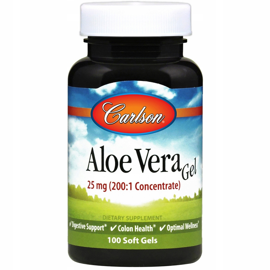 Aloe Vera Gel koncentrat 200:1 100kaps. Carlson