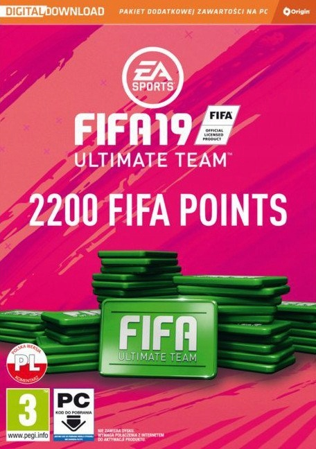 FIFA 19 ULTIMATE TEAM 2200 FIFA Points - KLUCZ