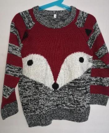 Sweterek Lisek dla chłopca 116