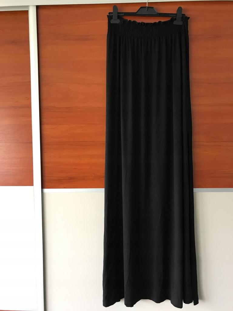Asos tall maxi czarna spódnica rozporek