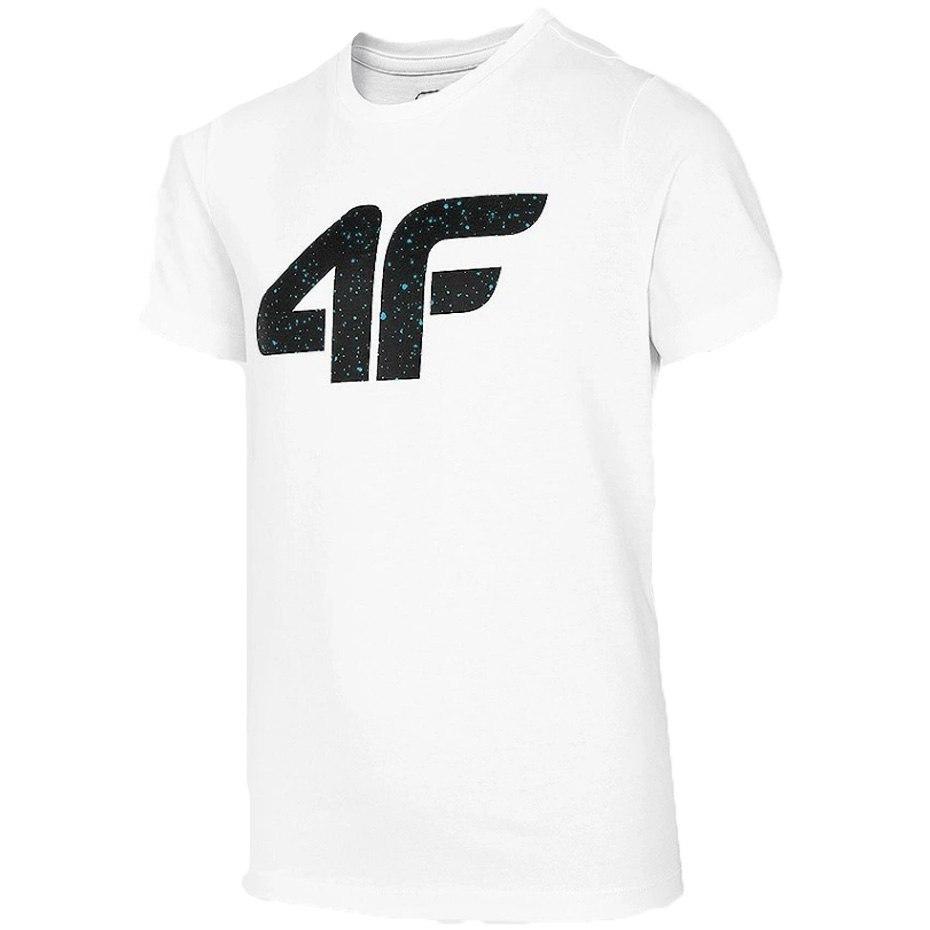 T-shirt Koszulka dla chłopca 4F biała 146 cm