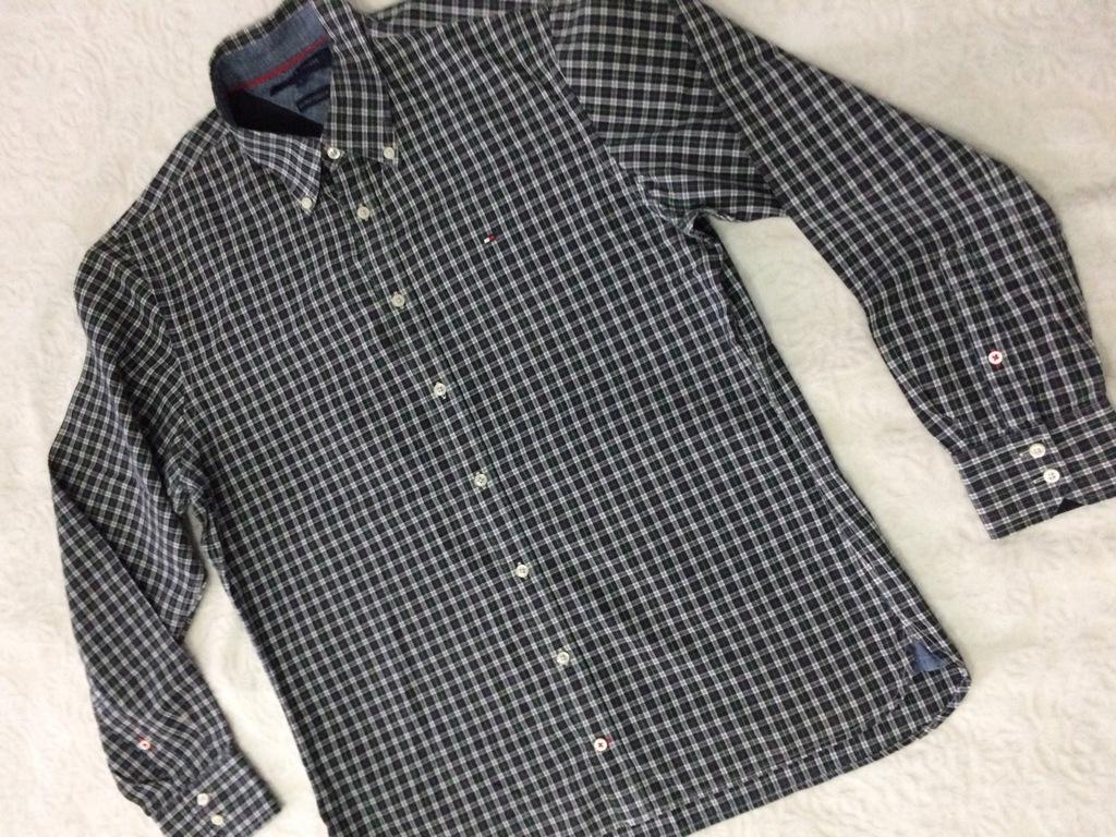 TOMMY HILFIGER koszula W KRATĘ r. L