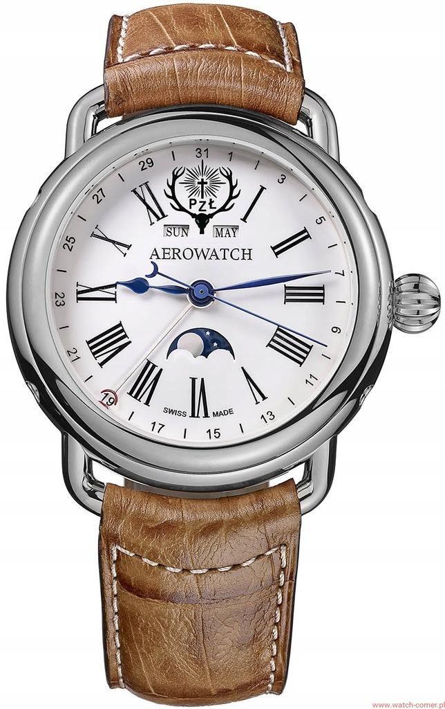 Aerowatch 1942 MOON PHASES 75970 PZŁ