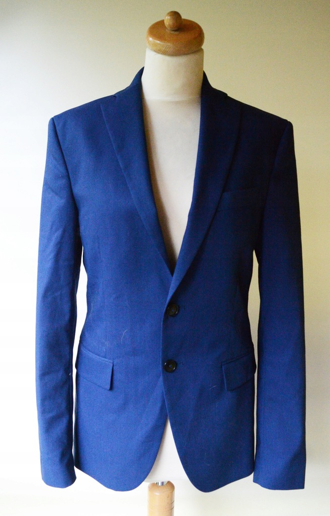 Marynarka Męska Zara Man 46 Niebieska Tailoring