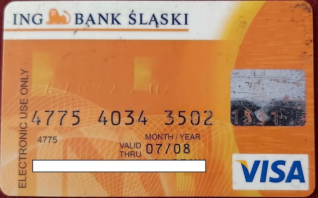 Karta VISA ING ING Bank ŚLĄSKI