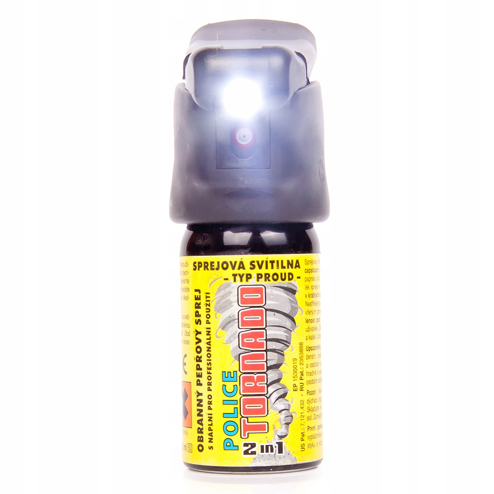 Gaz pieprzowy z diodą LED ESP Police Tornado 40ml