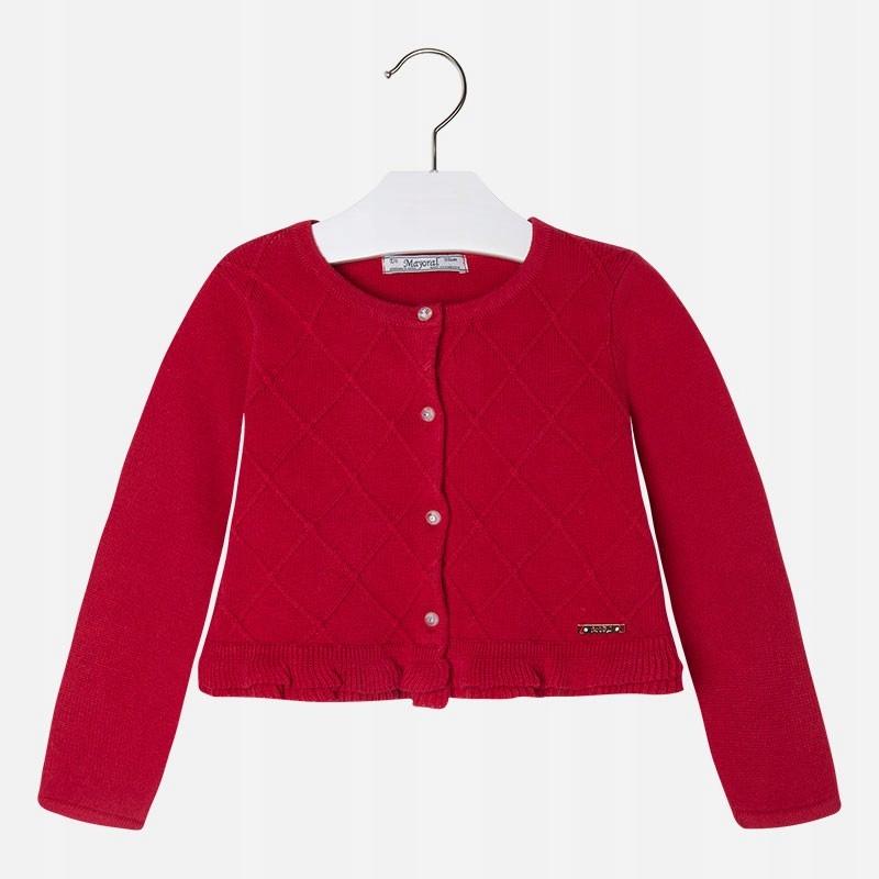 Sweter rozpinany dzianina romby Mayoral roz: 134cm