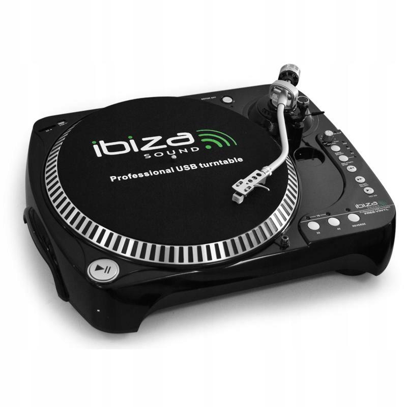 Gramofon dla dj'a Ibiza Sound USB/SD