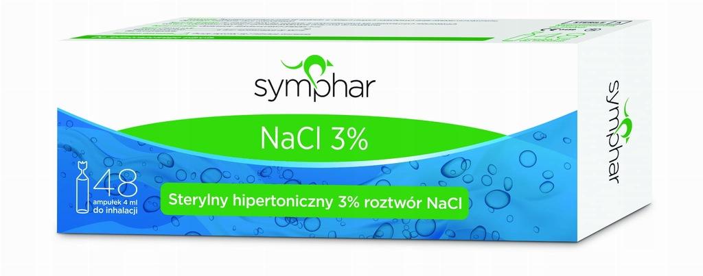 Sól fizjologiczna Symphar NaCl 3% 48 ampułek