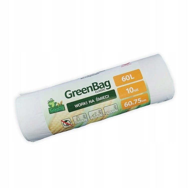 Worki 60L 100% biodegradowalne rolka 10sztuk