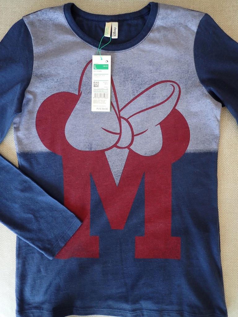 Benetton nowa bluzeczka Myszka Miki 140 cm 8-9 lat