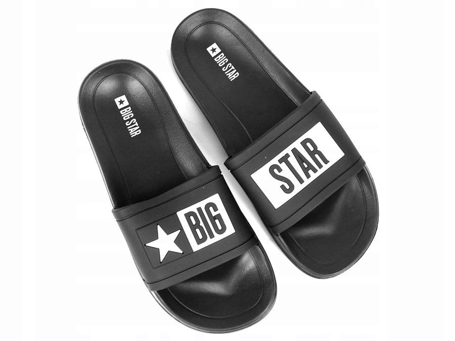 KLAPKI gumowe MĘSKIE czarne BIG STAR DD174699 45